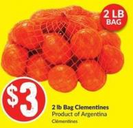 2 Lb Bag Clementines Product of Argentina 2 Lb Bag
