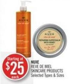 Nuxe Reve De Miel Skin Care Products