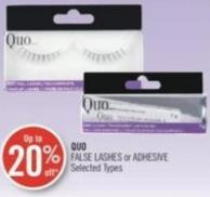 Quo False Lashes or Adhesive