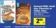 General Mills Retail Size Cheerios Or Child - Chex - 300-450 g