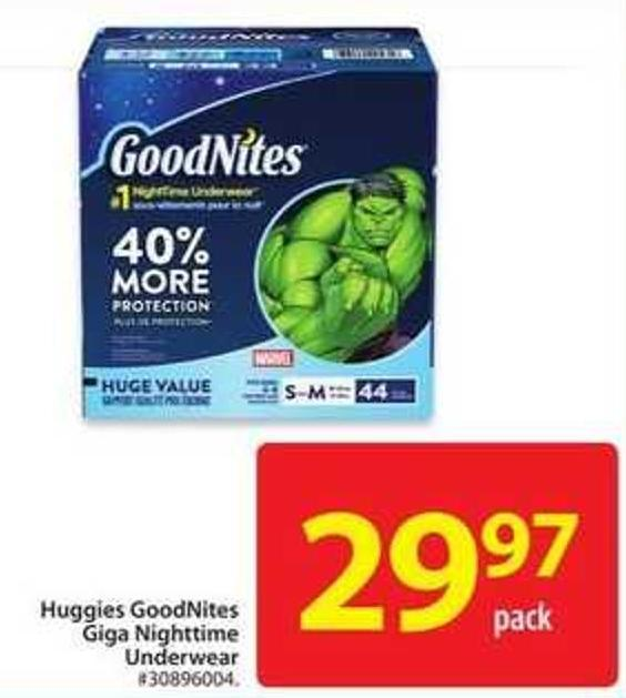 Huggies Goodnites Giga Nighttime Underwear