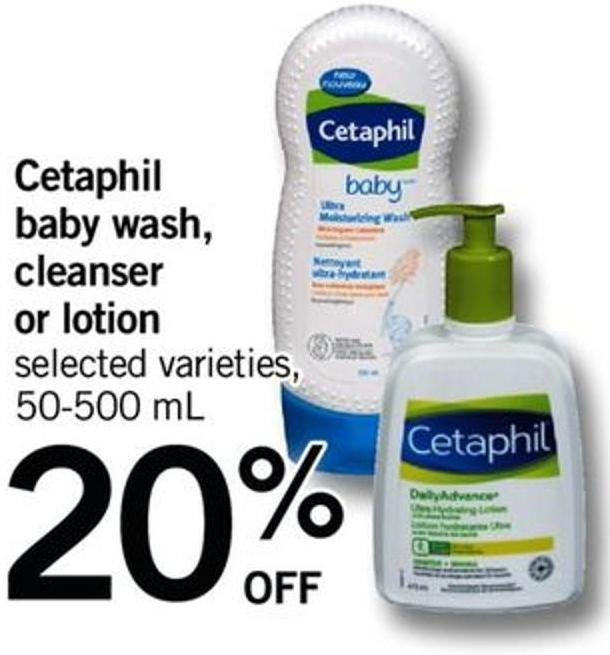 Cetaphil Baby Wash - Cleanser Or Lotion - 50-500 Ml