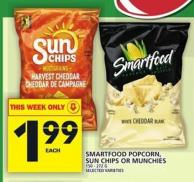 Smartfood Popcorn - Sun Chips Or Munchies