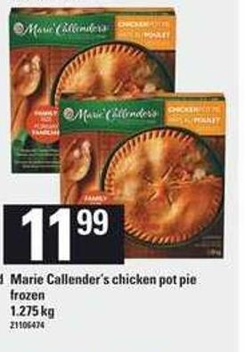 Marie Callender's Chicken Pot Pie - 1.275 Kg
