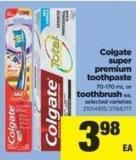 Colgate Super Premium Toothpaste - 70-170 Ml Or Toothbrush