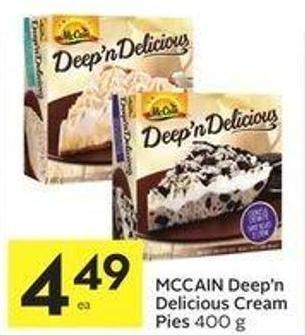 Mccain Deep'n Delicious Cream