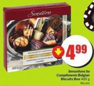 Sensations By Compliments Belgian Biscuits Box 400 g