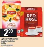 Lipton Or Red Rose Tea - 15-72's
