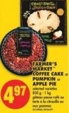 Farmer's Market Coffee Cake or Pumpkin or Apple Pie - 850 g - 1 Kg