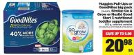 Huggies Pull-ups Or Goodnites Big Pack - 24-64's - Similac Go & Grow Or Nestlé Good Start 3 Nutritional Toddler Supplement - 850 g