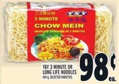 Y&y 3 Minute Or Long Life Noodles