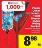 Vileda Oskar Broom - Twist Mop Or Quick Wring Bucket