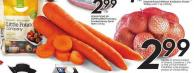 Carrots or Onions Product of Ontario - Canada No 1 - 5 Lb or The Little Potato Company Little Potatoes Product of Canada 680 g