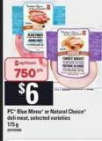 PC Blue Menu Or Natural Choice Deli Meat - 175 G20310580