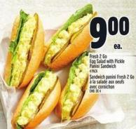 Fresh 2 Go Egg Salad With Pickle Panini Sandwich