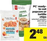 PC Ready- To-eat Popcorn Or Tortilla Chips - 200-320 g