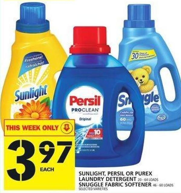 Sunlight - Persil Or Purex Laundry Detergent Or Snuggle Fabric Softener