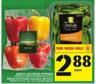 Sweet Assorted Peppers Fresh Attitude Salads Or Kits