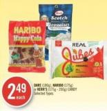 Dare (180g) - Haribo (175g) or Kerr's (175g - 200g) Candy