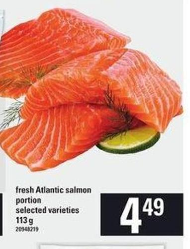 Fresh Atlantic Salmon Portion - 113 g