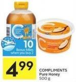Compliments Pure Honey 500 g - 10 Air Miles Bonus Miles