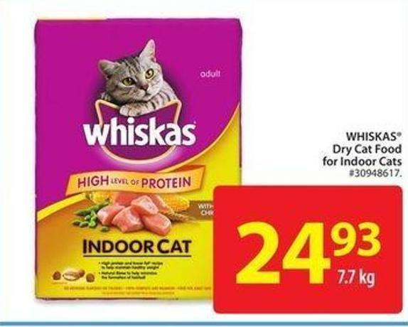 Whiskas Dry Cat Food For Indoor Cats