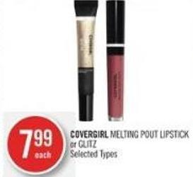 Covergirl Melting Pout Lipstick or Glitz