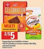 Pepperidge Farm Goldfish Crackers - 156-227 G/6x28 G Or Leclerc Cookies - 100-350 G