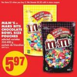 M&m's or Mars Bits Chocolate Bowl Size Pouches - 324-400 g