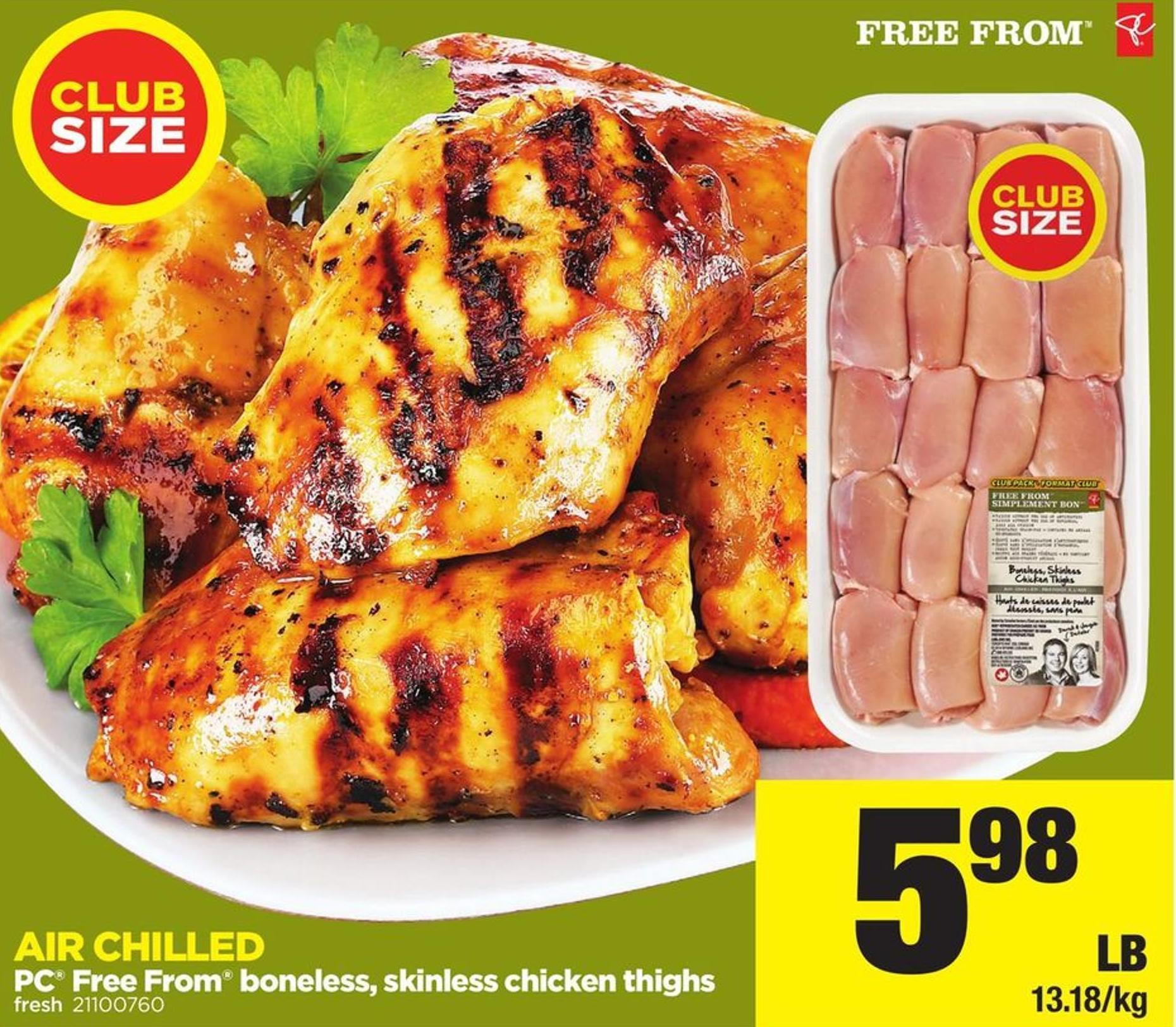 PC Free From Boneless - Skinless - Chicken Thighs