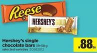 Hershey's Single Chocolate Bars - 39-58 g