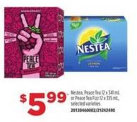 Nestea - Peace Tea - 12 X 341 Ml Or Peace Tea Fizz - 12 X 355 Ml