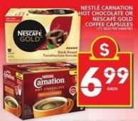 Nestlé Carnation Hot Chocolate Or Nescafé Gold Coffee Capsules
