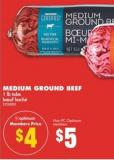 Medium Ground Beef - 1 Lb Tube