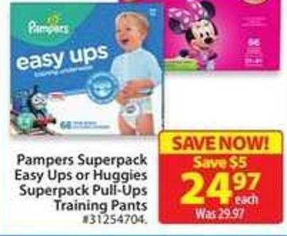 Pampers Superpack Easy Ups