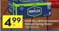 Montellier Carbonated Natural Spring Water - 30 Air Miles Bonus Miles