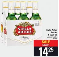 Stella Artois Bottles 6 X 330 Ml