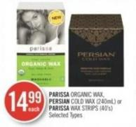 Parissa Organic Wax - Persian Cold Wax (240ml) or Parissa Wax Strips (40's)