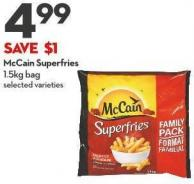 Mccain Superfries 1.5kg Bag