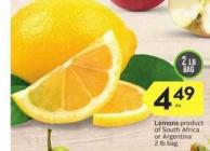 Lemons Product of South Africa or Argentina - 2 Lb. Bag