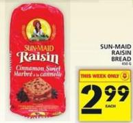 Sun-maid Raisin Bread