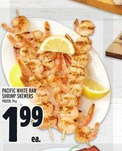 Pacific White Raw Shrimp Skewers