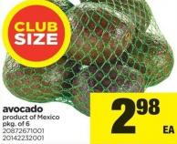 Avocado - Pkg of 6