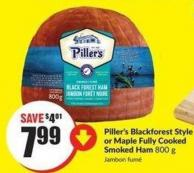 Piller's Blackforest Style or Maple Fully Cooked Smoked Ham 800 g