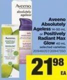 Aveeno Absolutely Ageless 14-50 mL Or Positively Radiant Max Glow 40 mL