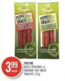 Freybe Bold Original or Smokin' Hot Meat Snacks 125 g