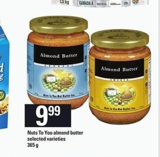 Nuts To You Almond Butter - 365 g