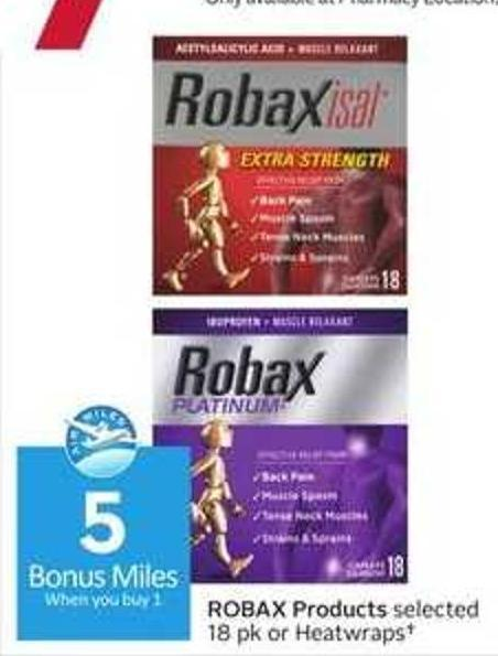 Robax Products - 5 Air Miles Bonus Miles