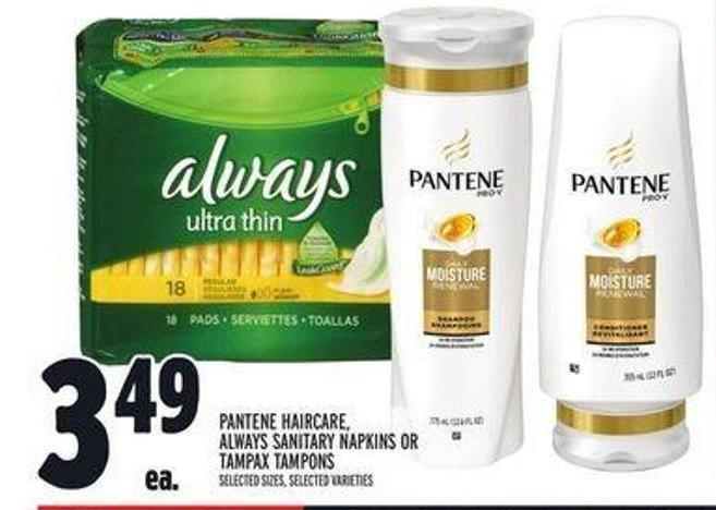 Pantene Haircare - Always Sanitary Napkins Or Tampax Tampons