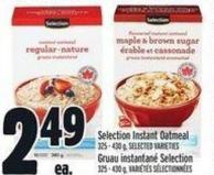 Selection Instant Oatmeal 325 - 430 G